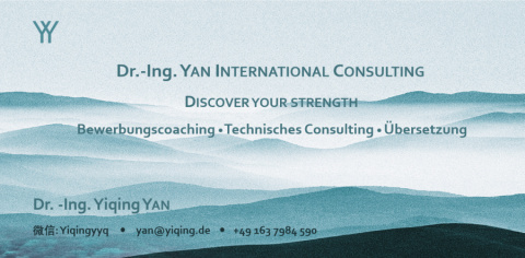 career opportunities and business information at: Dr.-Ing. Yan International Consulting